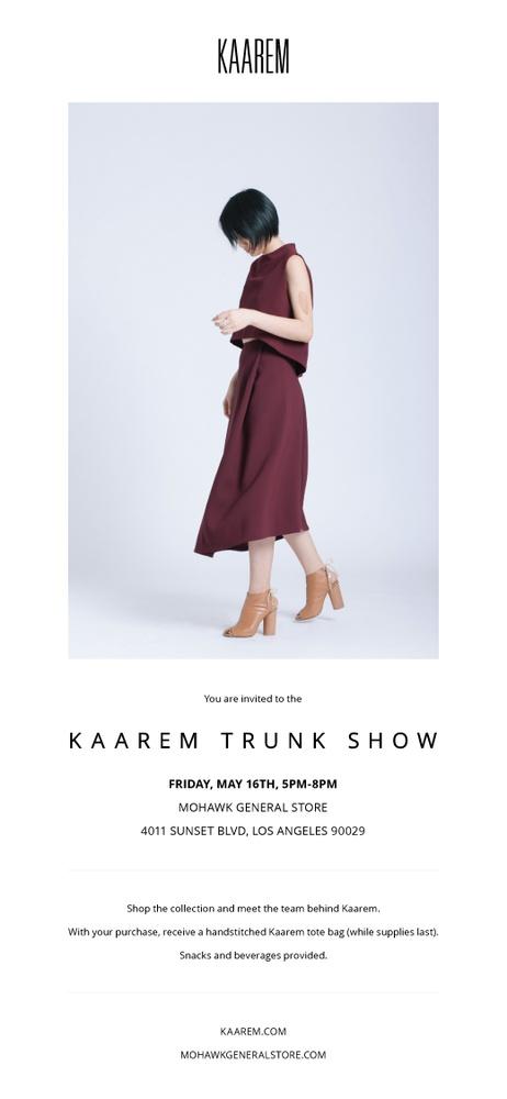 Kaarem Trunk Show at Mohawk General Store LA