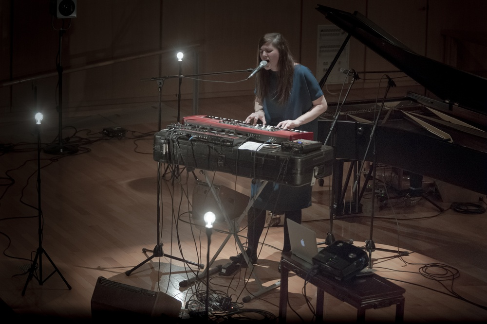 Julianna Barwick performing in Kaarem in Tokyo January 2015