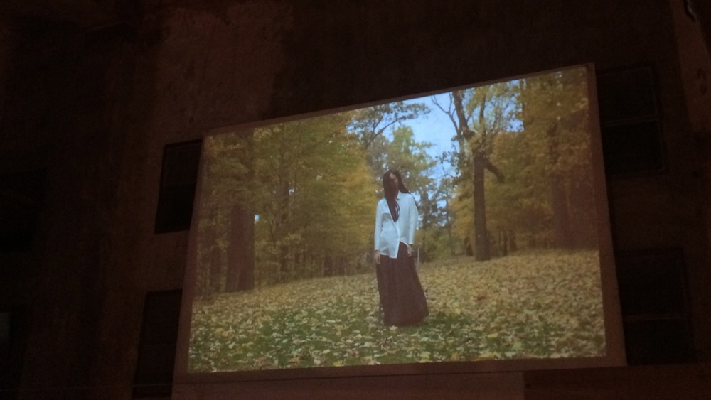 Maria Van Nguyen in ARRAY 1 to 9, a video installation by Andinh Ha